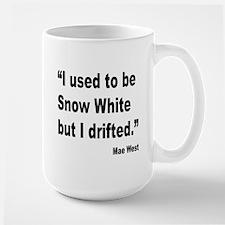 Mae West Snow White Quote Large Mug