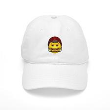 Yellow Football Smiley Baseball Cap