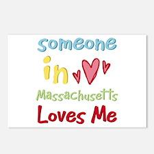 Someone in Massachusetts Loves Me Postcards (Packa