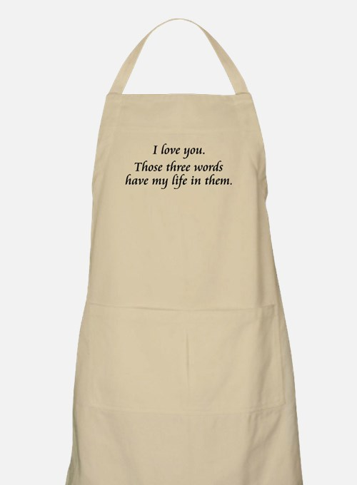 I Love You BBQ Apron