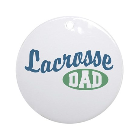 Lacrosse Dad Ornament (Round)