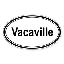 Vacaville (oval) Oval Decal