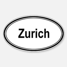 Zurich (oval) Oval Decal