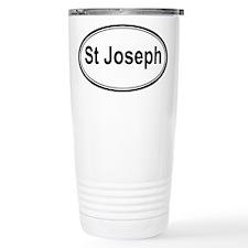 St Joseph (oval) Travel Mug
