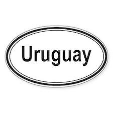 Uruguay (oval) Oval Decal