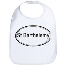 St Barthelemy (oval) Bib