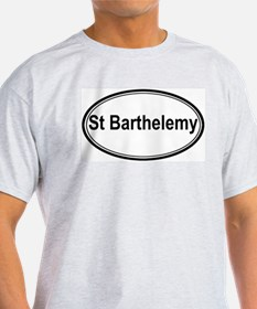 St Barthelemy (oval) T-Shirt