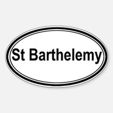 St Barthelemy (oval) Oval Decal