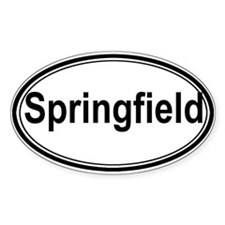 Springfield (oval) Oval Sticker (50 pk)