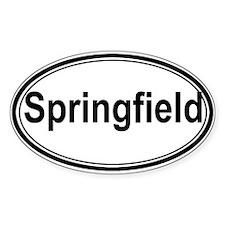 Springfield (oval) Oval Sticker (10 pk)