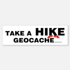 Geocache Hike Bumper Bumper Bumper Sticker