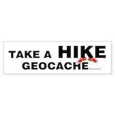 Geocache Hike Bumper Bumper Sticker