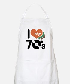 I Love the 70's BBQ Apron