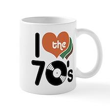 I Love the 70's Small Mug