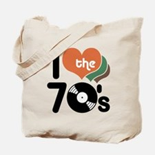 I Love the 70's Tote Bag