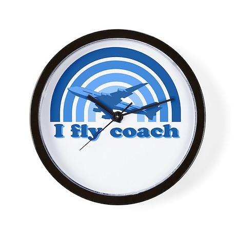 I FLY COACH Wall Clock