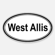West Allis (oval) Oval Decal