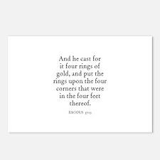 EXODUS  37:13 Postcards (Package of 8)