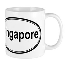 Singapore (oval) Small Mug