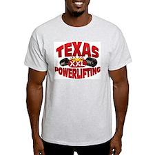 TEXAS Powerlifting! Ash Grey T-Shirt