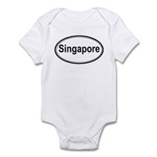 Singapore (oval) Onesie