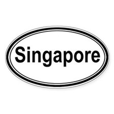 Singapore (oval) Oval Decal