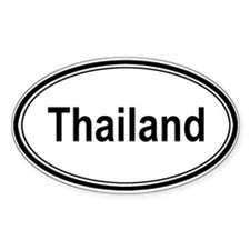 Thailand (oval) Oval Decal