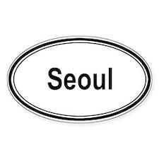 Seoul (oval) Oval Decal