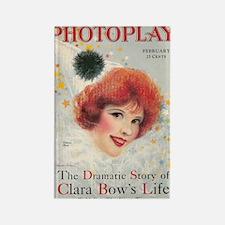 Clara Bow 1928 magazine cover Rectangle Magnet