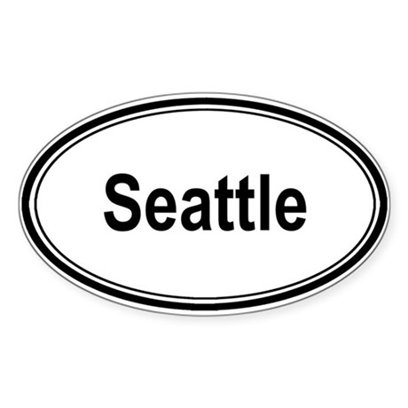 Seattle (oval) Oval Sticker