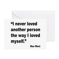 Mae West Love Myself Quote Greeting Cards (Pk of 2
