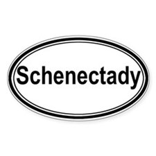 Schenectady (oval) Oval Decal