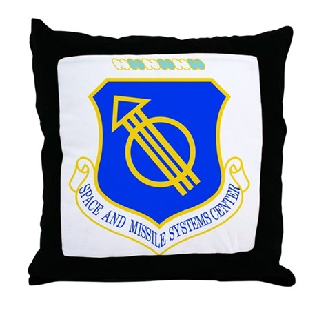 Space and Missile Throw Pillow