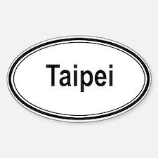 Taipei (oval) Oval Decal