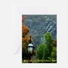 Harper's Ferry in the Fall Greeting Cards (Package