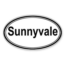Sunnyvale (oval) Oval Decal