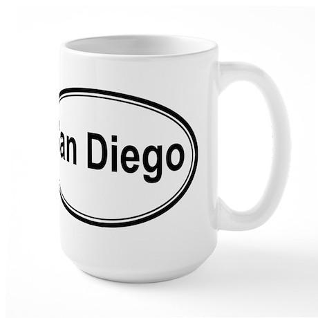 San Diego (oval) Large Mug