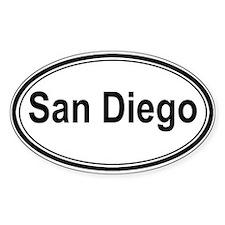San Diego (oval) Oval Sticker
