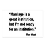 Mae West Marriage Quote Postcards (Package of 8)