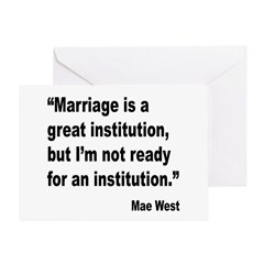 Mae West Marriage Quote Greeting Card