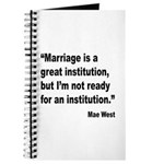 Mae West Marriage Quote Journal
