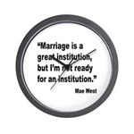 Mae West Marriage Quote Wall Clock