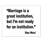 Mae West Marriage Quote Small Poster
