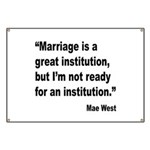 Mae West Marriage Quote Banner