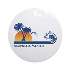 Acapulco Mexico Ornament (Round)