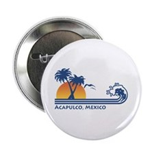 """Acapulco Mexico 2.25"""" Button"""