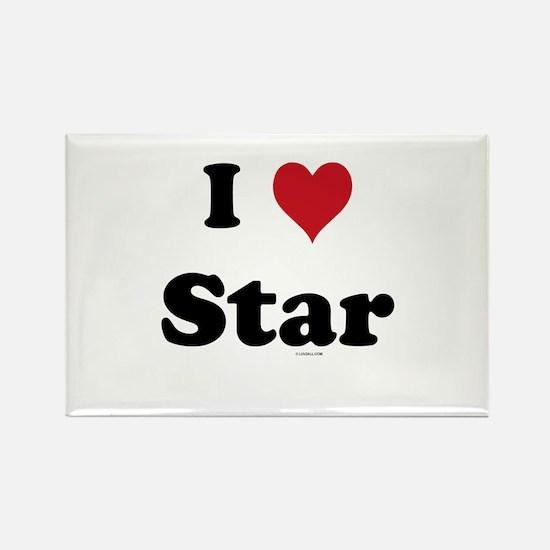 I love Star Rectangle Magnet