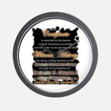 Witness to History Certificate - Wall Clock