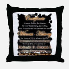 Witness to History Certificate - Throw Pillow