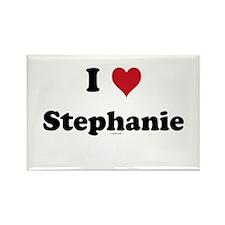 I love Stephanie Rectangle Magnet